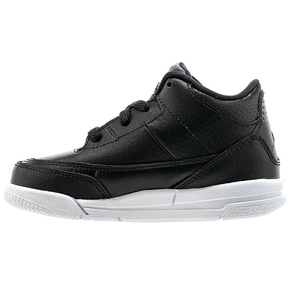Tenis Air Jordan Retro 3 Negro Piel Basket Niño Bebe Oferta
