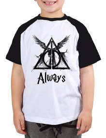 Camiseta Infantil Raglan Hp Harry Potter Always Tam 8 Ao 14