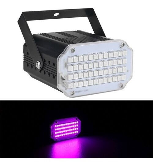 Alien 48 Led Rgb Uv White Strobe Luzes Disco Dj Festa De Nat