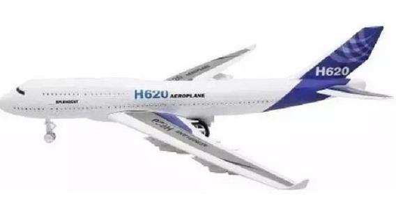 Avião Miniatura Brinquedo Fricção, Acende Luzes, Modelo H620