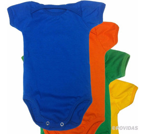 Body Bebê Liso Atacado Diversas Cores 100% Algodão Kit C/ 12