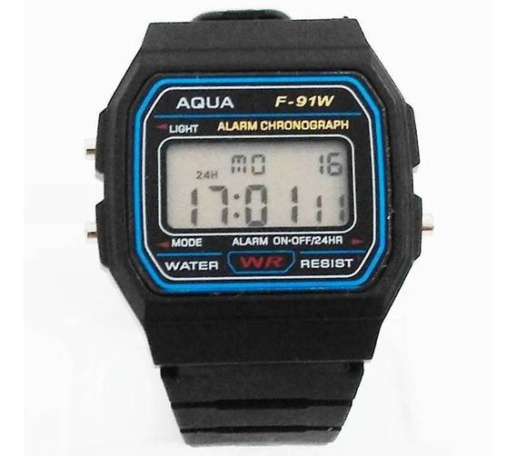 Kit 10 Relógios Aqua / Resistente À Água Revenda Atacado!!!