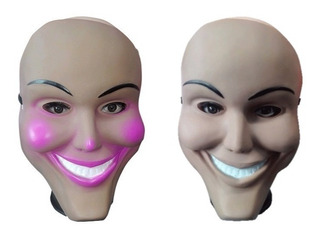 2 Mascaras La Purga Hombre Y Mujer Halloween Para Disfraz