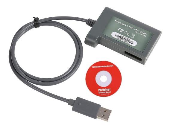 Kit Cabo Transfêrencia De Dados Xbox 360 Para Pc E Hd