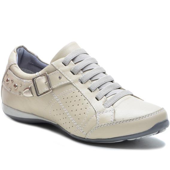 Sapato Sapatênis Tênis Feminino Casual Couro Bmbrasil 221/03