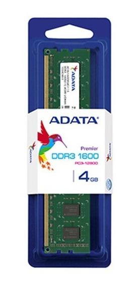 Memoria Adata 4gb Ddr3 Dimm 1600mhz Cas 11