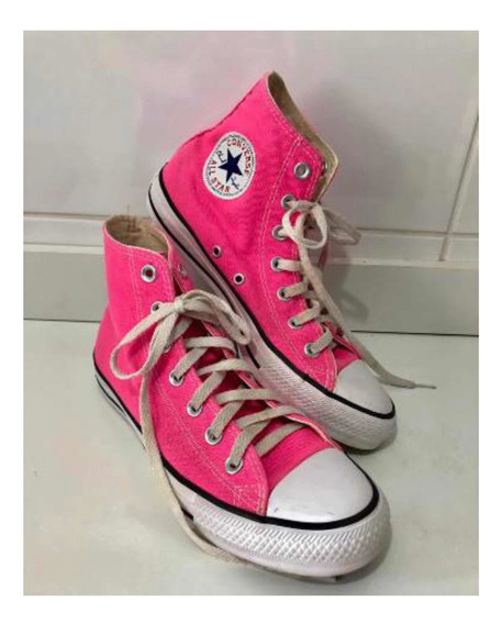 Converse All Star Cano Alto Rosa Original !
