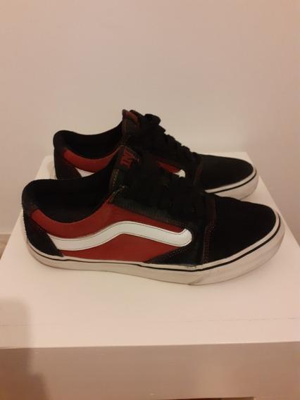 Zapatillas Vans Tnt 5. Black Red. Talle 42