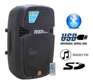Parlante Potenciado 10 2 Vias. Radio, Bluetooth, Mp3, Sd