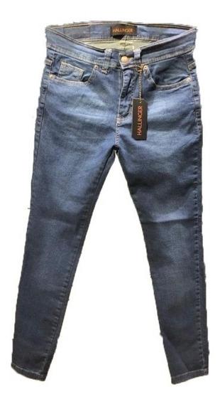 Pantalon Jean Slim Fit Moon Blue Hombre | Hallinger (ok117)