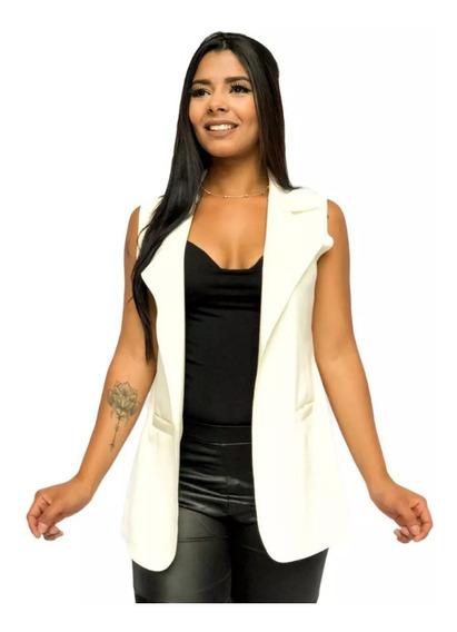 Kit 3 Max Colete Comprido Neoprene Feminino Plus Size Moda
