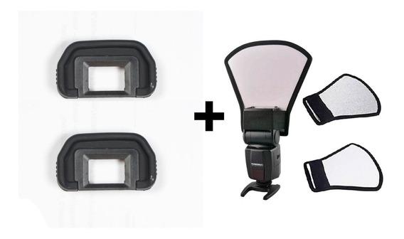 Kit 2 Oculares Canon Eb + Rebatedor P/ Flash