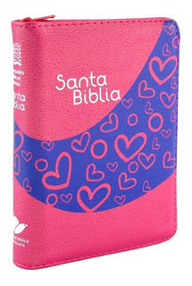 Biblia Reina Valera 1960 - Fucsia Con Cremallera (mediana)