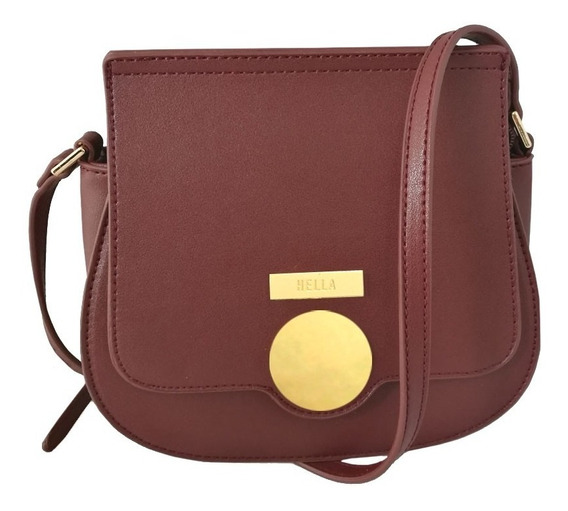 Cartera Bandolera Mujer Bordo Top3 Ofical