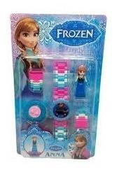 Relógio Infantil Digital Frozen Anna + Lego +brinde