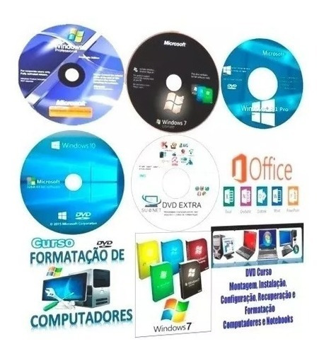 Kit Formatação 7/8.1/10/xp +office2016+cd Drivers Tudo Novo