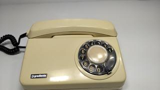 3° Telefone Antigo De Disco Gradiente Original Funcionando
