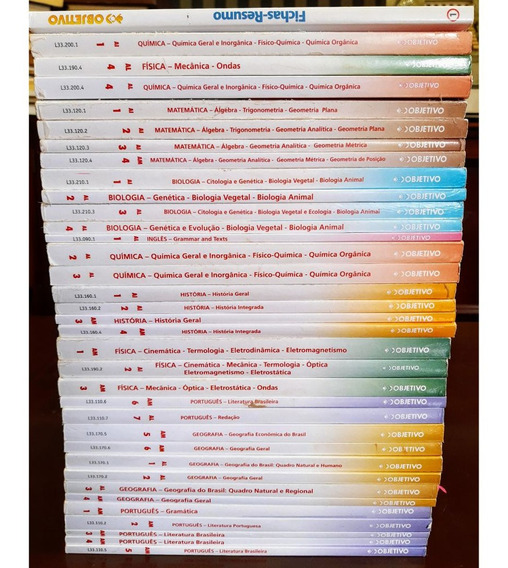 Coleção Objetivo Completa - 35 Volumes - Frete Grátis