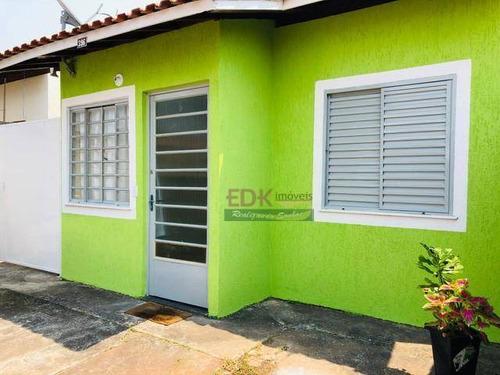 Imagem 1 de 6 de Casa Com 2 Dormitórios À Venda, 60 M² Por R$ 170.000 - Vila Monterrey - São José Dos Campos/sp - Ca4433