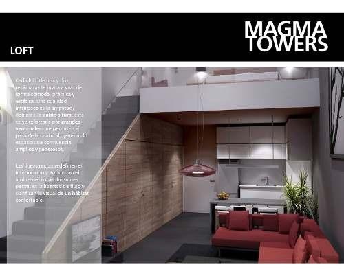 !!!departamentos Y Penthouse´s En Desarrollo Habitacional Magma Tower!!!