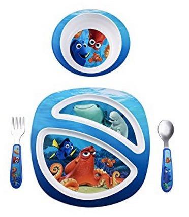 Conjunto Alimentação Infantil Pratos, Garfo E Colher - Dory