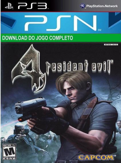 Jogo De Ps3 Resident Evil 4 Ps3 Midia Digital Psn