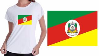 Camiseta Baby Look Branca I Love Rio Grande Do Sul Estados