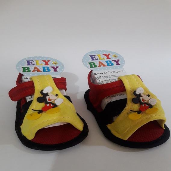 Sandalia Bebe Sapato Infantil Menino Mickey Rn