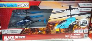 Helicoptero Rc Radiocontrol Juguete 3 Canales Azul