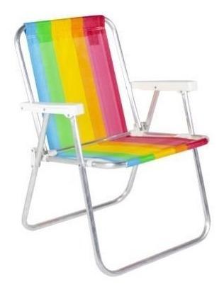 Cadeira De Praia Alta Em Aluminio