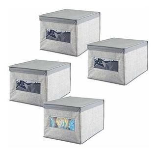 Mdesign Caja Organizadora De Tela Suave Y Apilable Para Alma