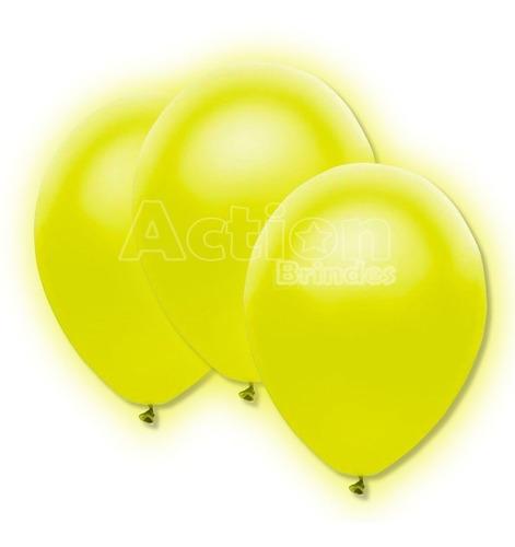 Imagem 1 de 4 de Balão Bexiga De Neon Amarelo Nº09 - Com 30 Unidades