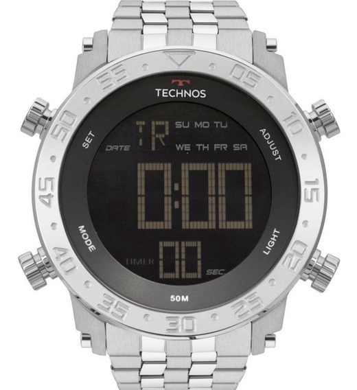 Relógio Technos Masculino Prata Digital Bjk006ab/1p