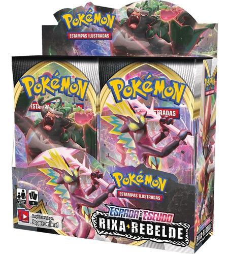 Card Game Pokémon Booster Box Ee2 Rixa Rebelde Lacrada Copag