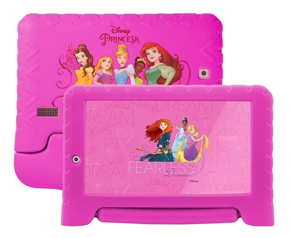 Tablet Multilaser Disney Princesas 8gb Wifi 7 Rosa - Nb281