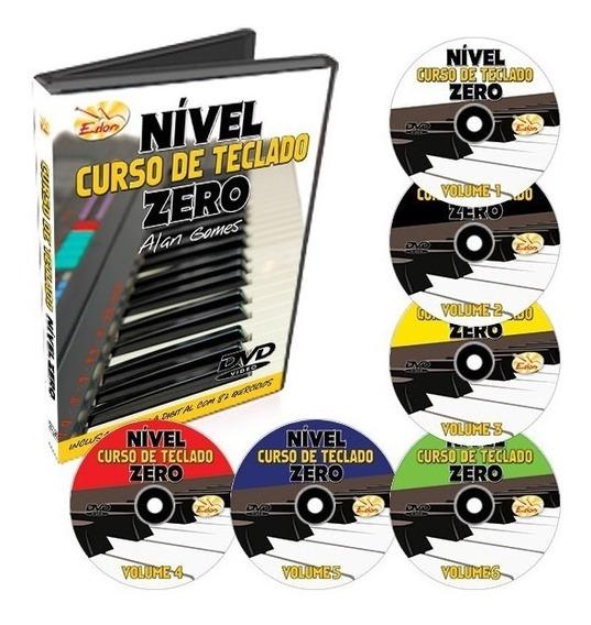 Coleção Curso De Teclado Nível Zero Iniciantes Em 6 Dvds