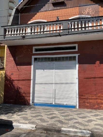 Salão Para Alugar, 200 M² Por R$ 2.500/mês - Vila Costa - Suzano/sp - Sl0084