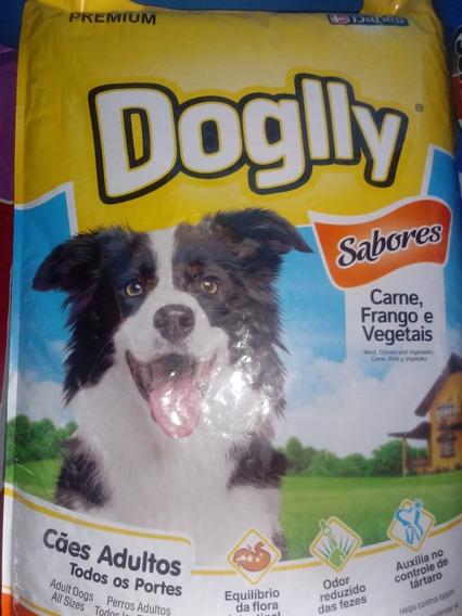 Racao Cachorro Doglly Sabores Carne, Frango E Vegetais 5kg