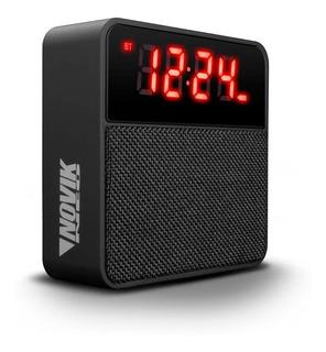 Parlante Bluetooth Novik Manos Libres Sd Aux Usb Radio Reloj