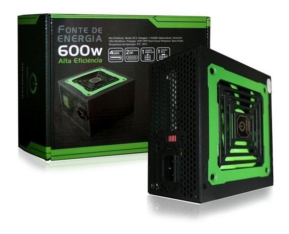 Fonte Atx 600w Reais Computador One Gamer Envio Imediato