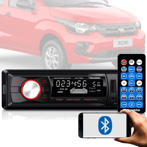 Imagem 1 de 6 de Aparelho Bluetooth/usb/aux/sd/fm Roadstar 7 Cores Fiat Mobi