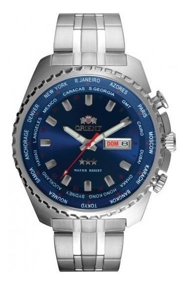 Relógio Orient 469ss057 D1sx Automatic Mascul Azul- Refinado