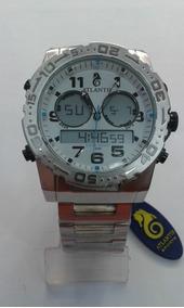 Relógio Atlantis A3228 Prata Fundo Branco Masc - Original