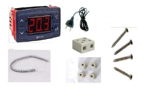 Kit Chocadeira 7 Peças.termostato,resistencia,isoladores,cab