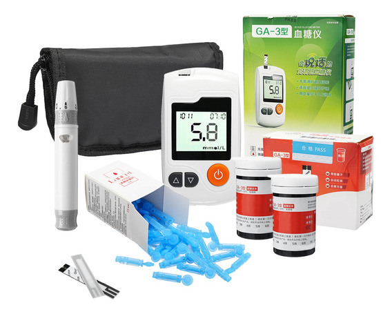 1 Conjunto De Medidor De Glucosa En Sangre Diabética De Cont