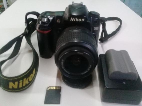 Câmera Nikon D80 Com Lente, Carregador, Bateria E Cartão 8g