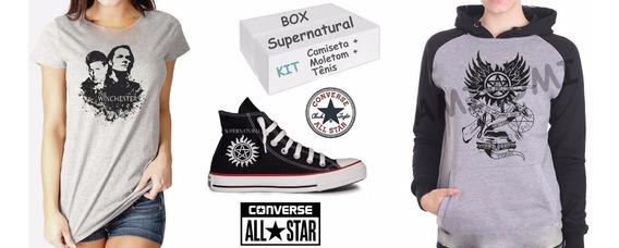 Box Supernatural Kit Tênis + Moletom + Camiseta Frete Grátis