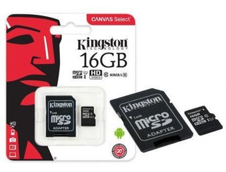 Memoria Kingston Micro Sd 80mb/s 16gb