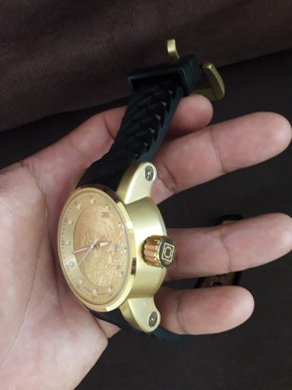 Relógio Invicta Automatico Dourado