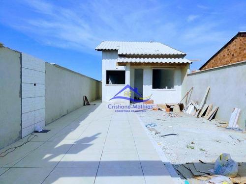 Casa Com 2 Dormitórios À Venda, 80 M² Por R$ 310.000,00 - Jardim Atlântico Leste (itaipuaçu) - Maricá/rj - Ca0927